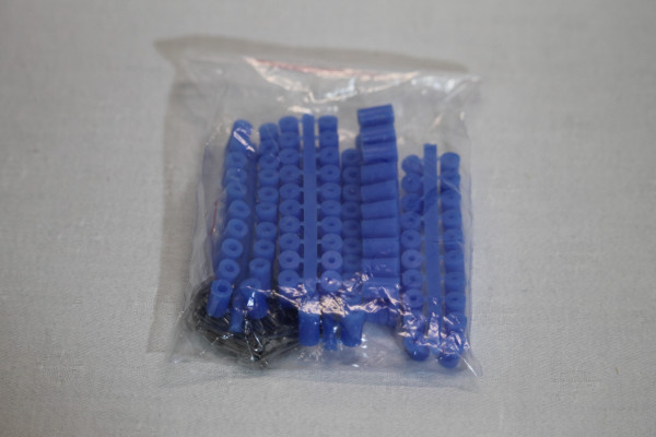 Abstandsröllchen 10 mm 100 Stück blau