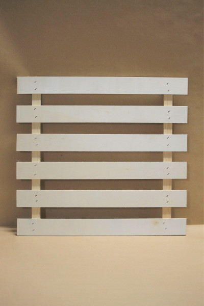 Bausperre aus Holz für den Segeberger Hochboden