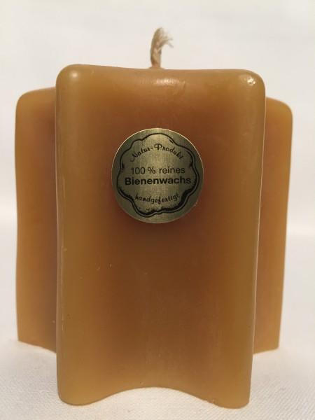 Bienenwachs Kerze in Sternform 7,5 x 7 cm