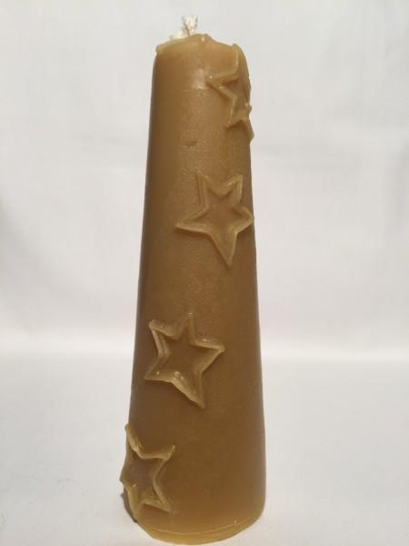 Kerze mit Sternen Reliefs 18 x 5,5 cm