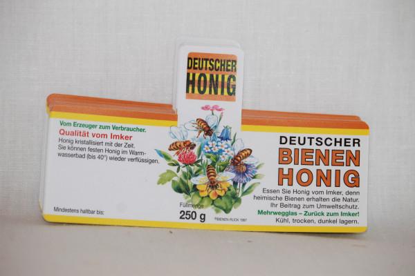 Flores Etikett für 250 g , nassklebend