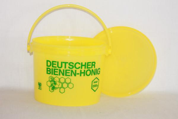 Eimer 2,5 kg in gelb mit Druck