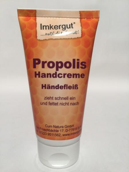 Handcreme mit Propolis zieht schnell ein