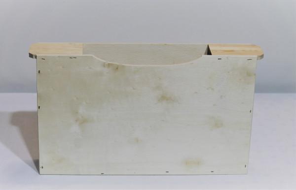 Futtertasche aus Holz 2 Waben DN